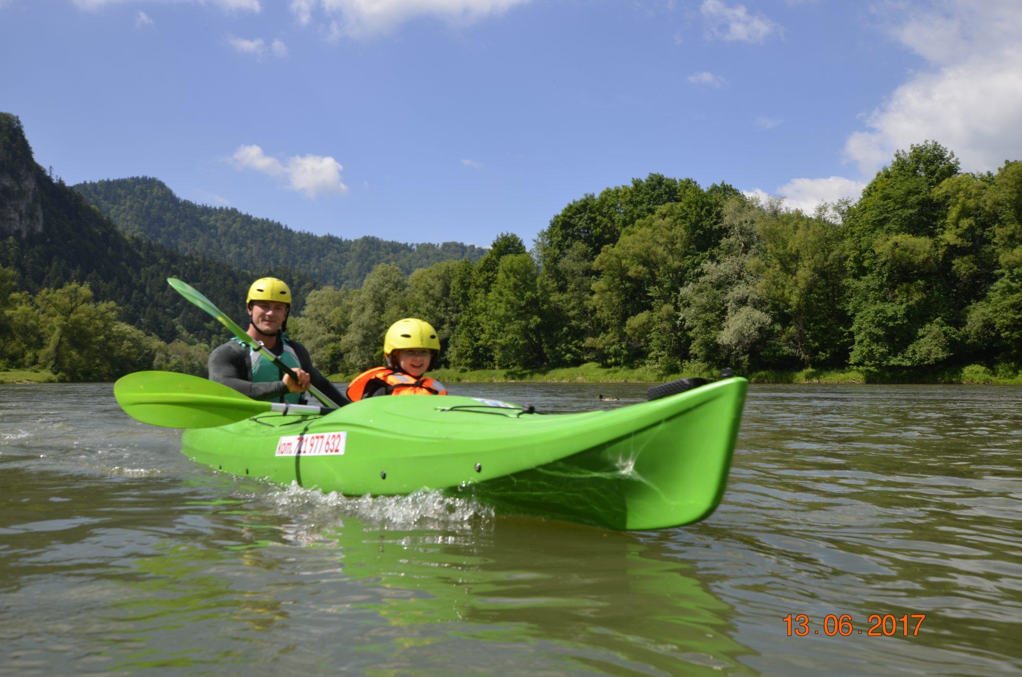 Odcinek przełomu Dunajca - kajak i rafting